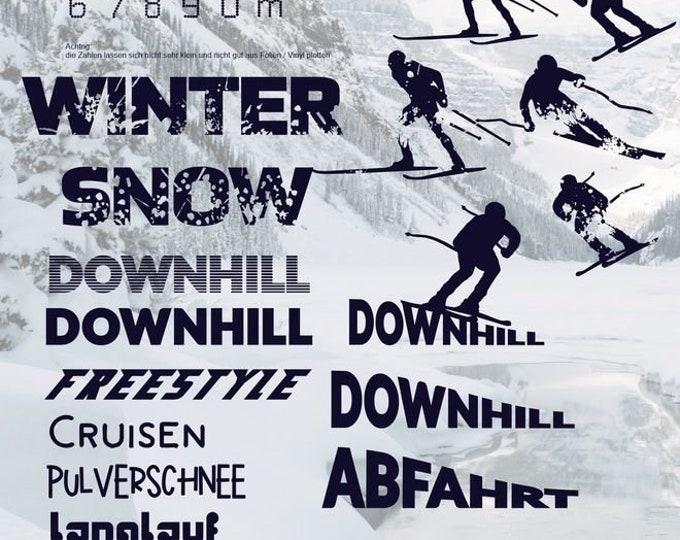 Ski Winter Snow Cross Country Mega Decoration + Bonus