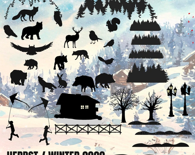 WINTER HERBST 2020 Complete Set, from Tea Light to Wall Tattoo, all in one package