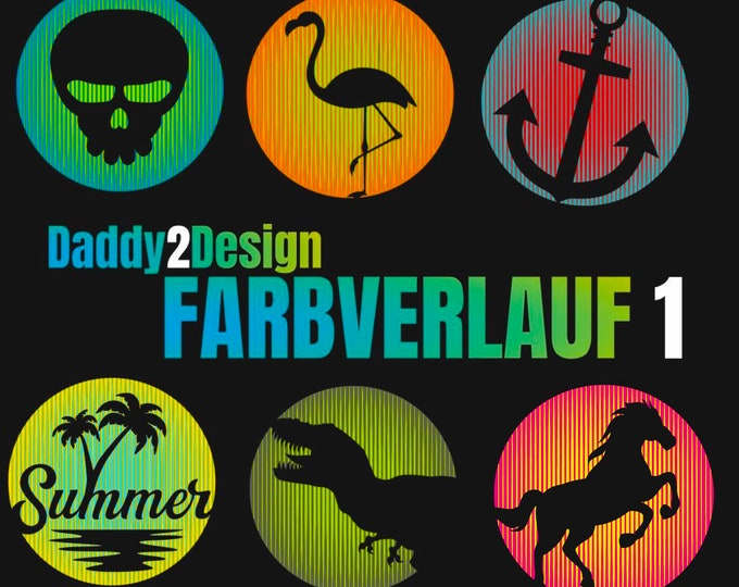 FARBVERLAUF Circle - 6 motifs - with 2 foils