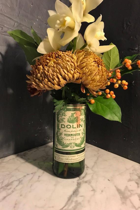 Dolin Vermouth Cut Liquor Bottle Vase Etsy