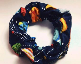 Space Themed Planet Scrunchie
