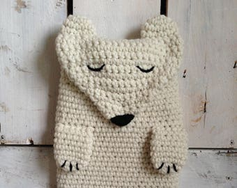 Polar Bear Hot Water Bottle Cover