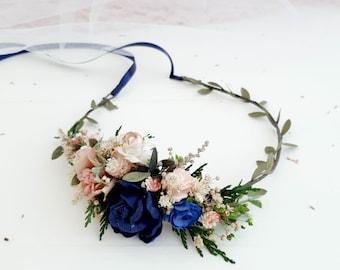 Navy flower crown  1a895671d76