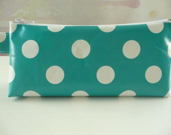 Kit trendy Turquoise with white dots