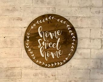 Home Sweet Home Sign, Home Decor Sign, Rustic Sign, Rustic Home Decor