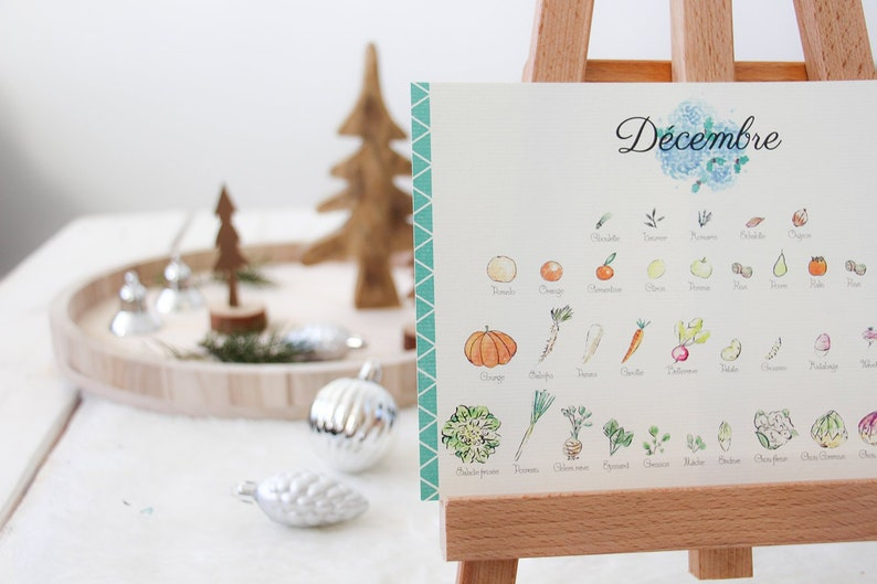 Fruits & vegetables seasonnal calendar  image 0
