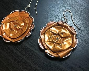 double sided nespresso earrings