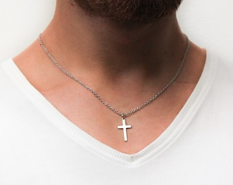 ROSTIVO Cross Necklace for Women Men Boys and Girls Dainty Cross Necklace Silver