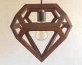 salvaged wood - pendant light - handmade - contemporary - natural wood - reclaimed wood - light fixture - lamp - light - wood lamp