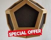 Special offer - hanging light - pendant lamp - grey fabric shades - black textile cord - ash wood - spot light - modern chandelier lighting