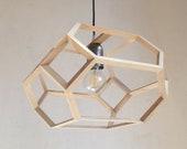 PRAXIDIKE - Pendant light - ceiling light fixture - wood hanging lamp - natural ash wood