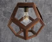 Sacred shape lamp - universe - pendant lamp - light fixture - wooden lamp - living room lighting - bedroom light - foyer lamp - kitchen