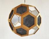 Pendant light - hanging lamp - pendant lamp - light fixture - wood pendant lamp - living room lighting - bedroom light - foyer lamp -