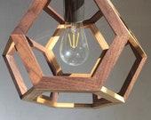 Pendant or Table Lamp Slim - Truncated octahedron - Ceiling lamp - kitchen light