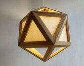 Pendant light - hanging lamp - pendant lamp - oak - wood pendant light - modern chandelier lighting