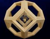 GANIMEDE - Raw Fir Wood Pendant Lamp - lampada a sospensione - wooden light - modern chandelier lighting
