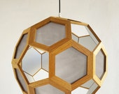 Wood pendant light - hanging light - pendant lamp - light fixture - wood pendant lamp - living room lighting - bedroom light - foyer lamp -