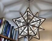 geometrical lamp - maths and light - unique shape - pendant lamp - light fixture