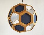theory of everything - sacred geometry - pendant lamp - light fixture - wood pendant lamp - living room lighting - bedroom light - foyer
