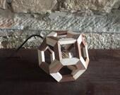 bedside table lamp - desk lamp - small lamp - ash wood - walnut - table lamp