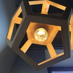 ALBIORIX - Dodecahedron - pendant light - wooden lamp - table lamp