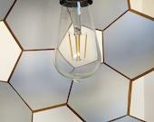 chandelier - hanging lamp - pendant lamp - light fixture - wooden lamp - living room lighting - bedroom light - foyer lamp - kitchen light