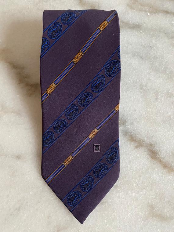 Celine   100% silk blue tie