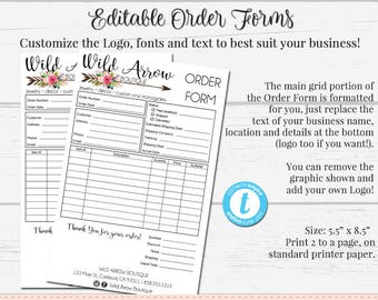 order form template etsy