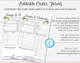 Custom Order Form Etsy - Custom order form template