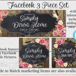 Rustic Barnwood Facebook Set, Customizable Facebook, DIY Facebook, Editable Facebook Set, Farmhouse Facebook, DIY Business Set, Aimee Lynn
