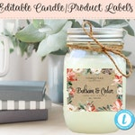 Holiday Candle Label, Editable Label, Christmas Product Label, DIY Ingredient Label, Instant Print, Editable Sticker, 3.25 x 2.5, DIY Label