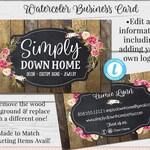 Rustic Barnwood Business Card, Editable Card, Business Card Template, DIY Business Card, Instant Download Card, Editable Card, Aimee Lynn