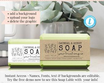 soap label editable label bath product label diy ingredient label instant print sticker editable sticker label template 85 x 2