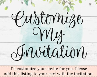 Customize Your Evite Phone Invitation, Add Text, Editable Invitation, DIY Invitation, Custom Invitation, Add on, Instant Download