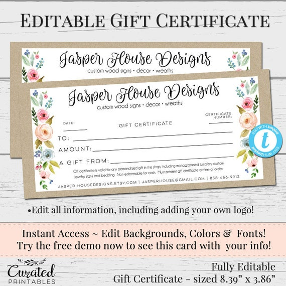 Professional Affiliations On Resumes: Printable Gift Certificates Templates Free