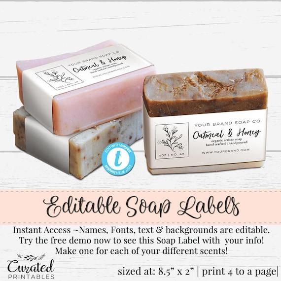 soap label editable label bath product label diy ingredient etsy