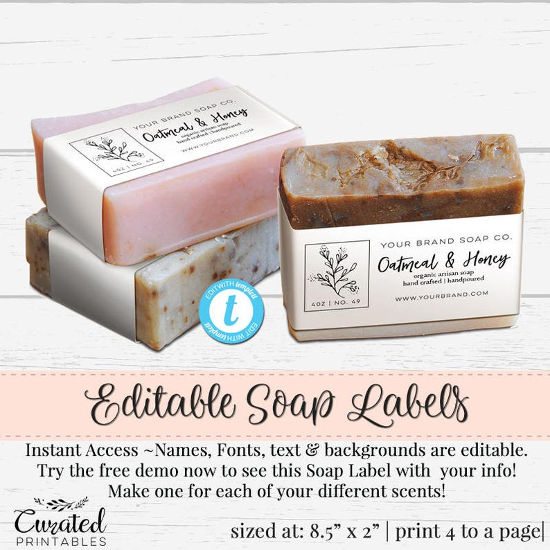 photo regarding Free Printable Soap Labels Template identified as Cleaning soap Label, Editable Label, Bathtub Item Label, Do-it-yourself Element Label, Fast Print Sticker, Editable Sticker, Cleaning soap Label Template