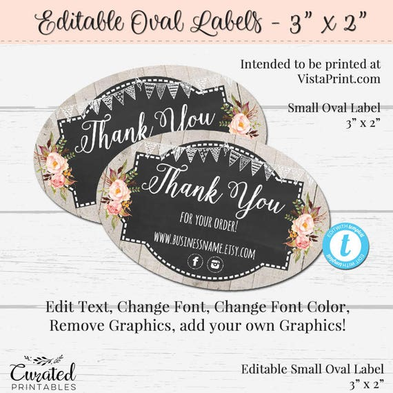 Oval product label editable label 3 x 2 oval sticker diy