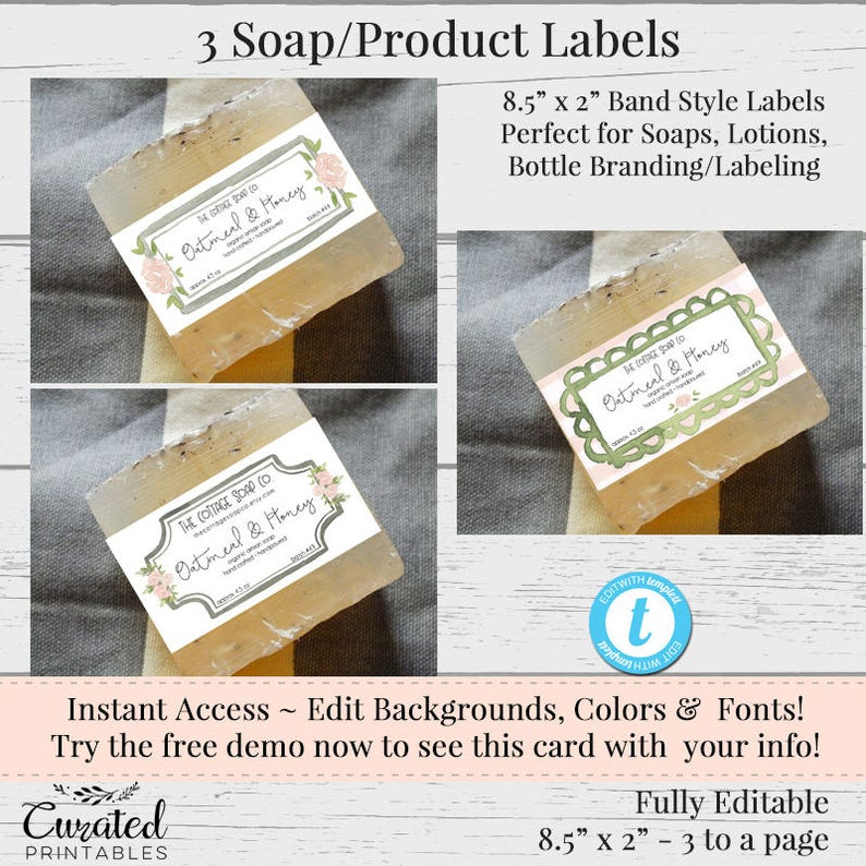 picture about Free Printable Soap Labels Template referred to as 3 Cleaning soap Labels, Editable Label, Tub Substance Label, Do-it-yourself Element Label, Instantaneous Print Sticker, Editable Sticker, Cleaning soap Label Template