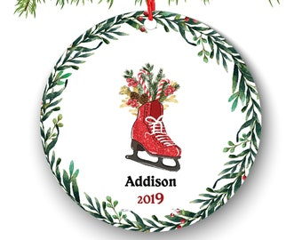Skaterboy skaterboard Personalized Christmas Ornament