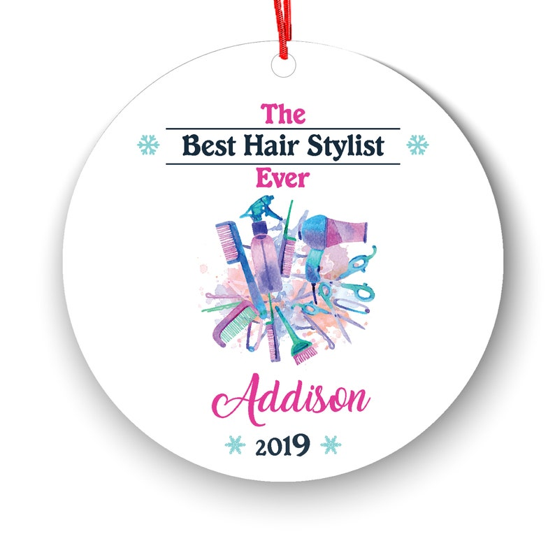 Hair Salon Personalized Christmas Ornament  Beauty Salon  Beautician  Colorist  Stylist Personalized Name and Message