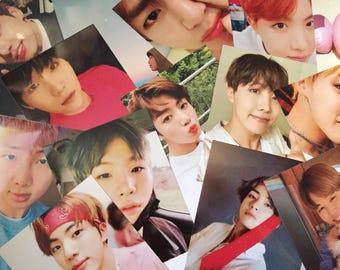 BTS KPOP photocards 3x2 selfie duets [ heart version ]