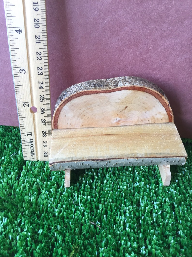 Superb Miniature Rustic Gnome Garden Bench 2 5 Inches Tall Rustic Wood Hand Designed And Crafted Free Shipping Andrewgaddart Wooden Chair Designs For Living Room Andrewgaddartcom