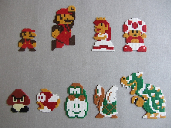 Mario Princess Peach Enemies And Other Characters From Super Etsy