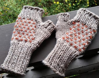 Fall Mitts - Grey Speckles