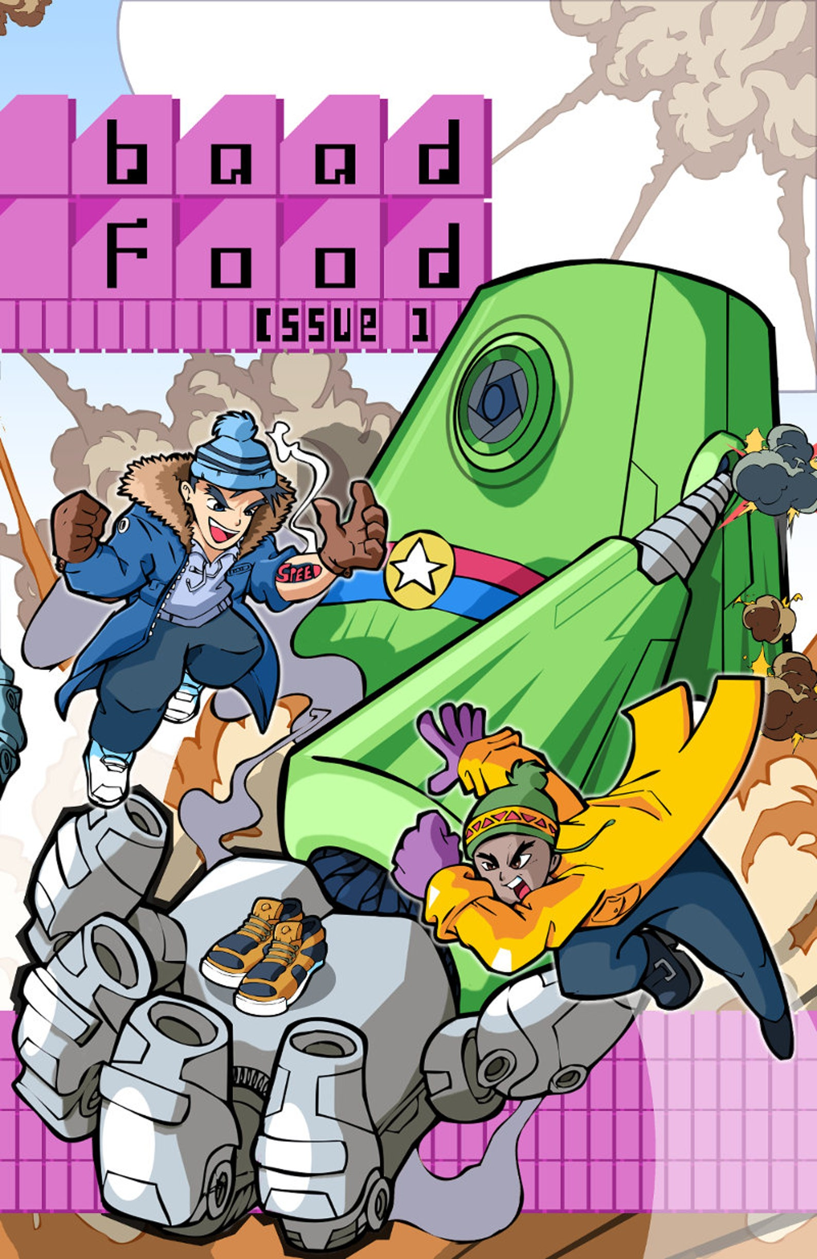 Comic Book BaadFood 1 Variant Cover Sci-Fi Indie Series w