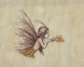 Cross - dust of fairy - Nimue - finished embroidery stitch Embroidery