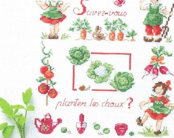 Fantastisch Cross Stitch Embroidery   Do You Know Plant Cabbage   Véronique Enginger    Custom