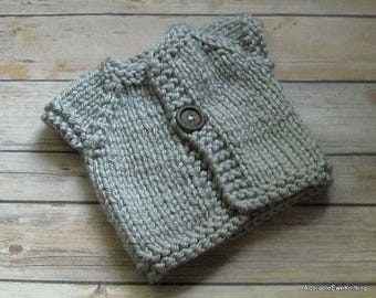 Knitted Baby Cardigan Sweater