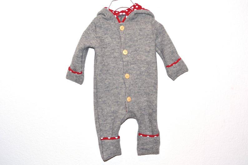 6ffde1d13 Walk overall Walkanzug wool suit wool jumpsuit grey kids wool